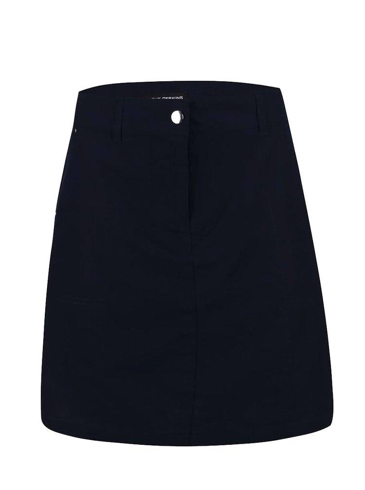 Tmavomodrá sukňa s vreckami Dorothy Perkins