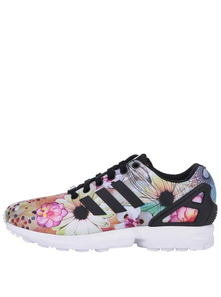 ... Barevné dámské květované tenisky adidas Originals ZX Flux W d4f8978881b