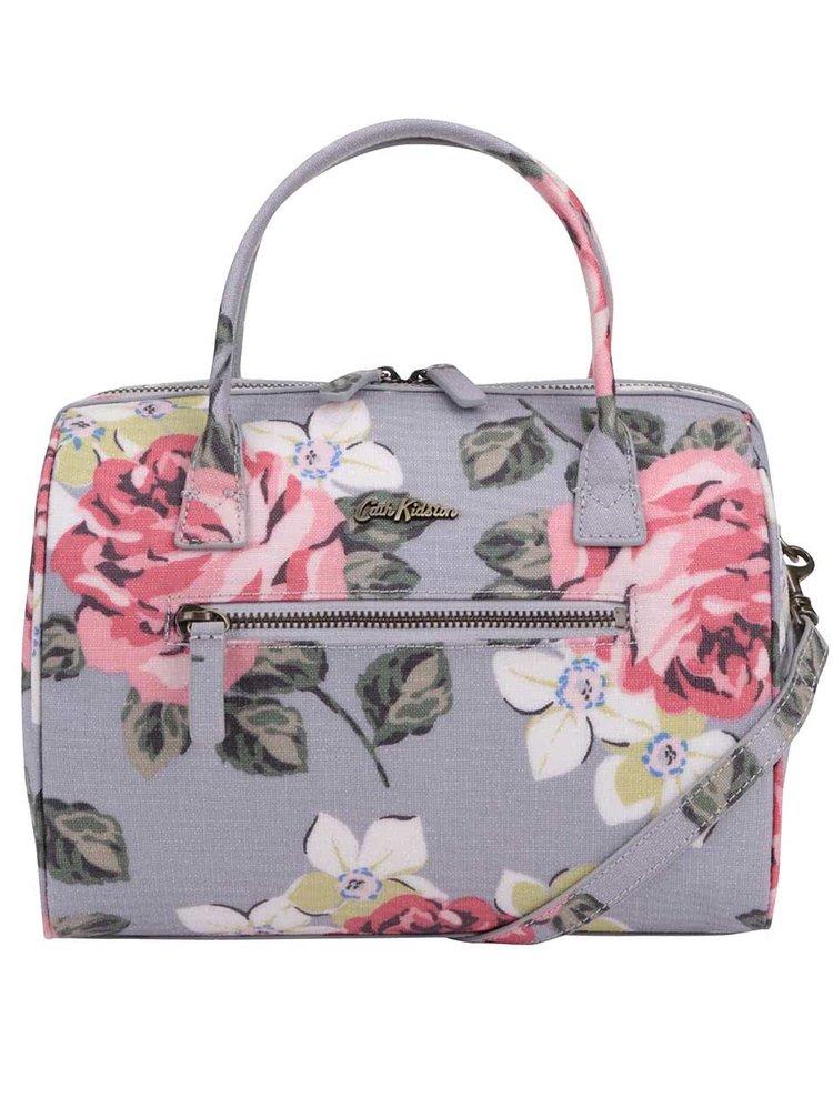Šedá kabelka s motivem růží Cath Kidston
