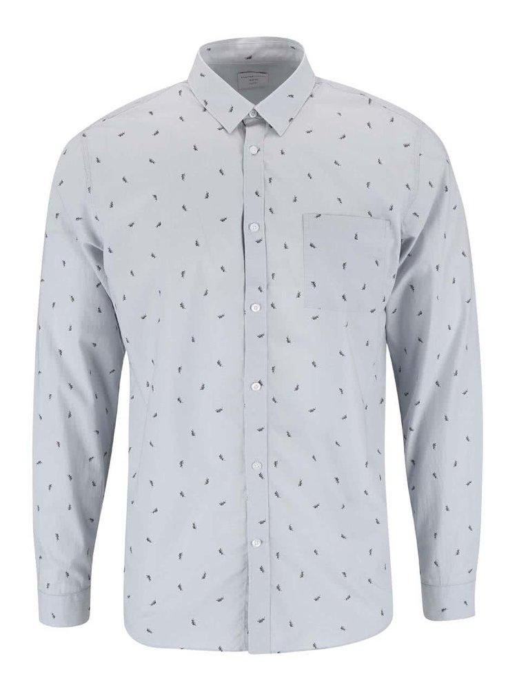 Modrošedá košile se vzorem Selected Homme One Benson