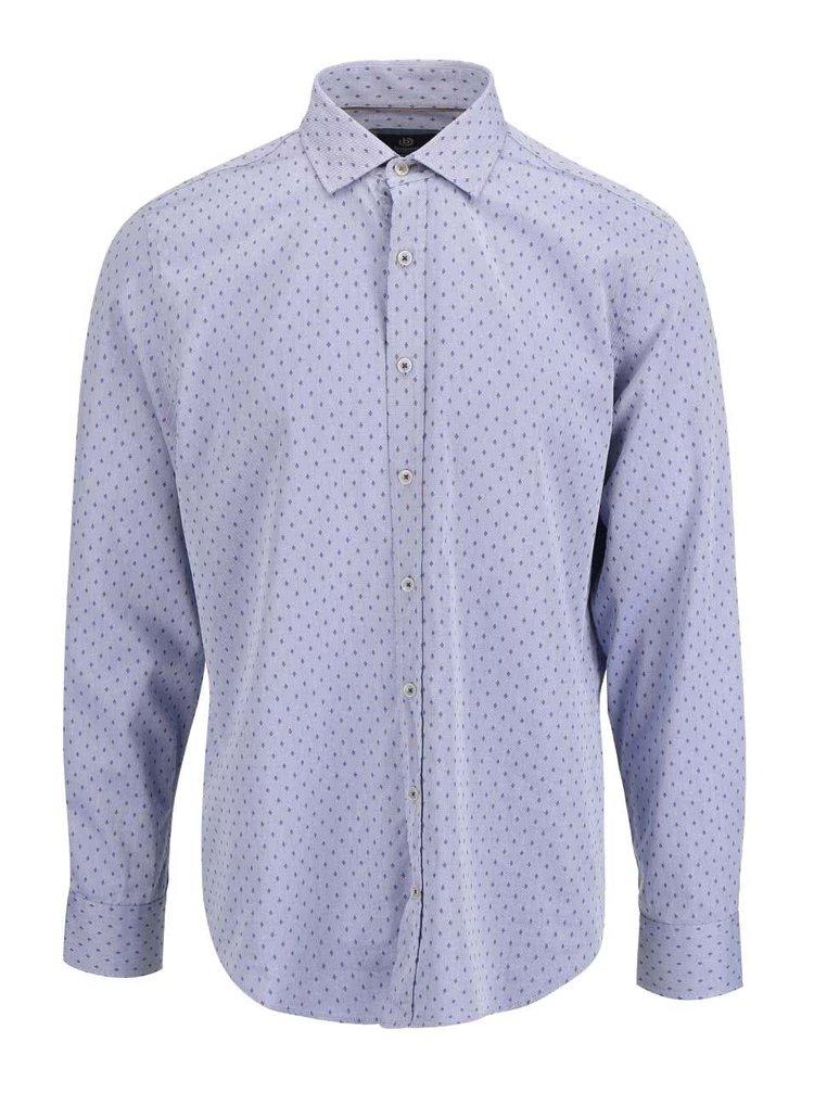 a10c9fa770aa Modrá pánska vzorovaná košeľa bugatti · Modrá pánska vzorovaná košeľa  bugatti