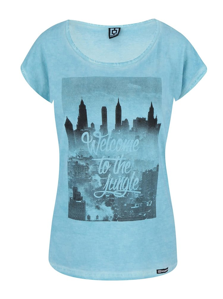 Modré tričko s potlačou Horsefeathers The Town