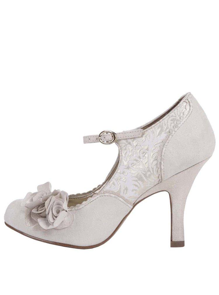 Pantofi de damă Ruby Shoo Emily auriu/crem