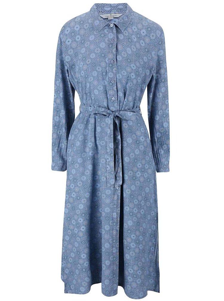 Modré košilové šaty French Connection Medina