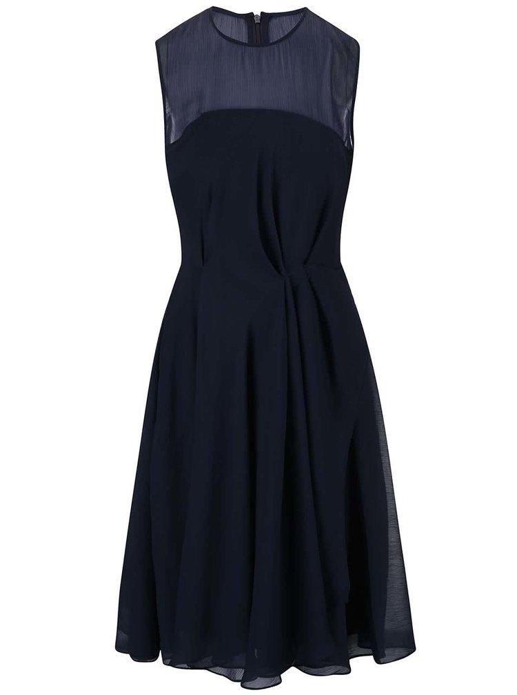 Tmavě modré šifónové šaty French Connection Sunray