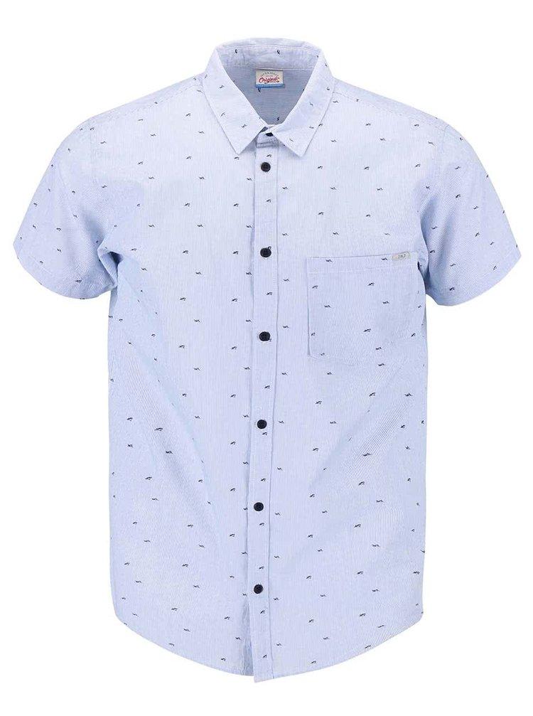 Modrá vzorovaná košeľa s krátkym rukávom Jack & Jones Shark