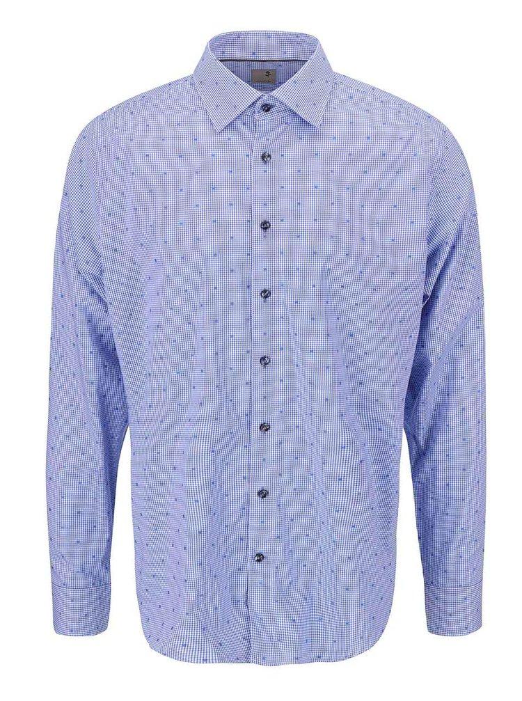 Bílo-modrá košile s drobnou kostkou Seidensticker Paul Slim Fit
