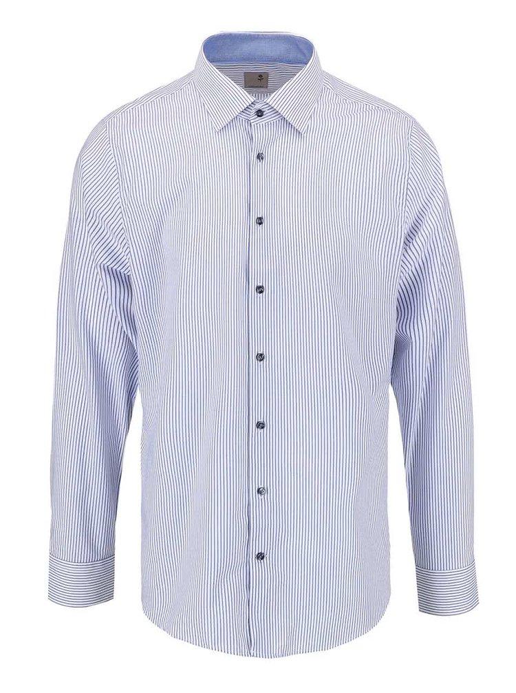 Modro-biela pruhovaná košeľa Seidensticker Paul Patch Slim Fit