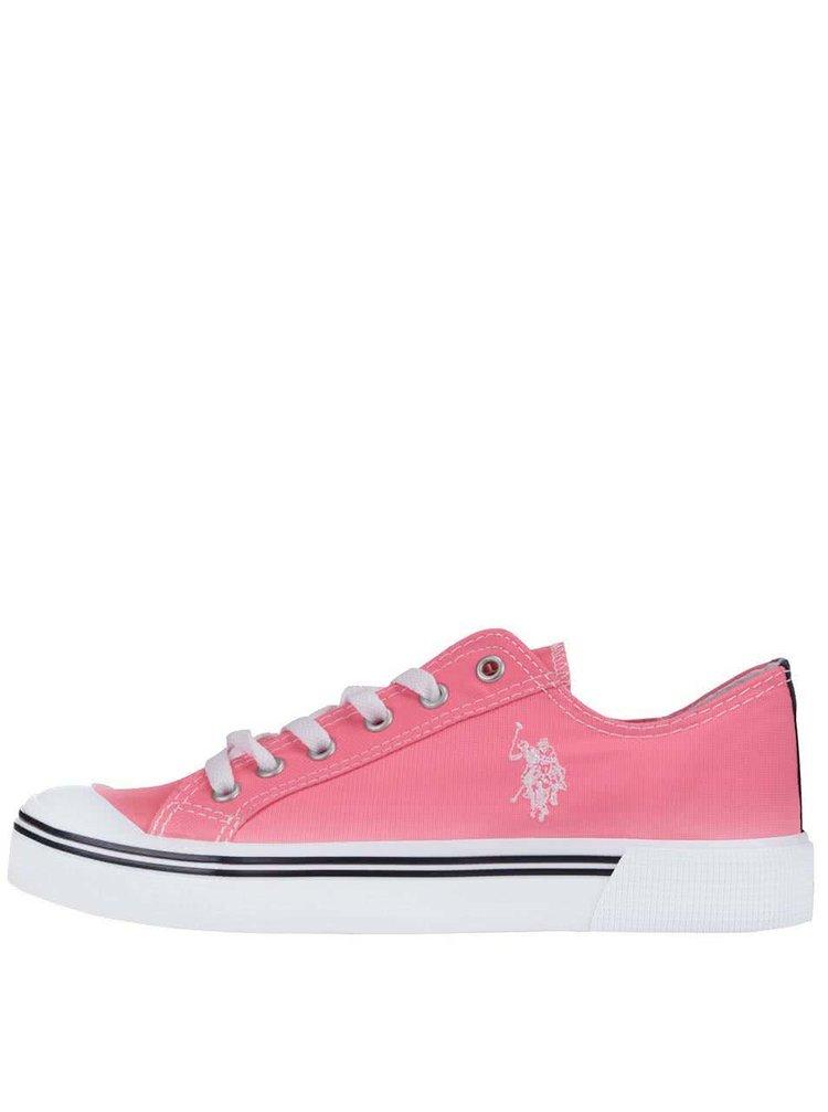 Neonově růžové dámské tenisky U.S. Polo Assn. Norw Fluo