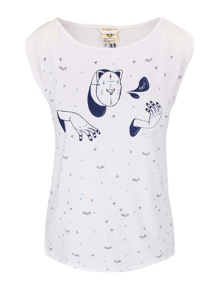 Krémové tričko s potlačou Skunkfunk Kyloe