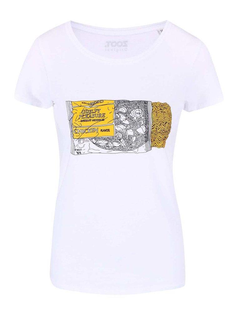 Tricou ZOOT Original Instant Noodle alb pentru femei