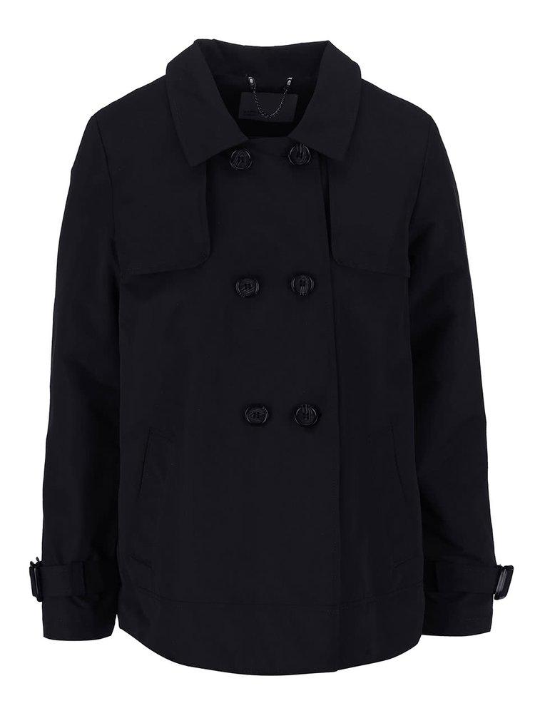 Černý krátký kabát VERO MODA Canyon