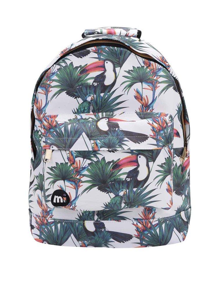 Bílý batoh s tropickým vzorem Mi-Pac Ultraviolet Jungle 17 l