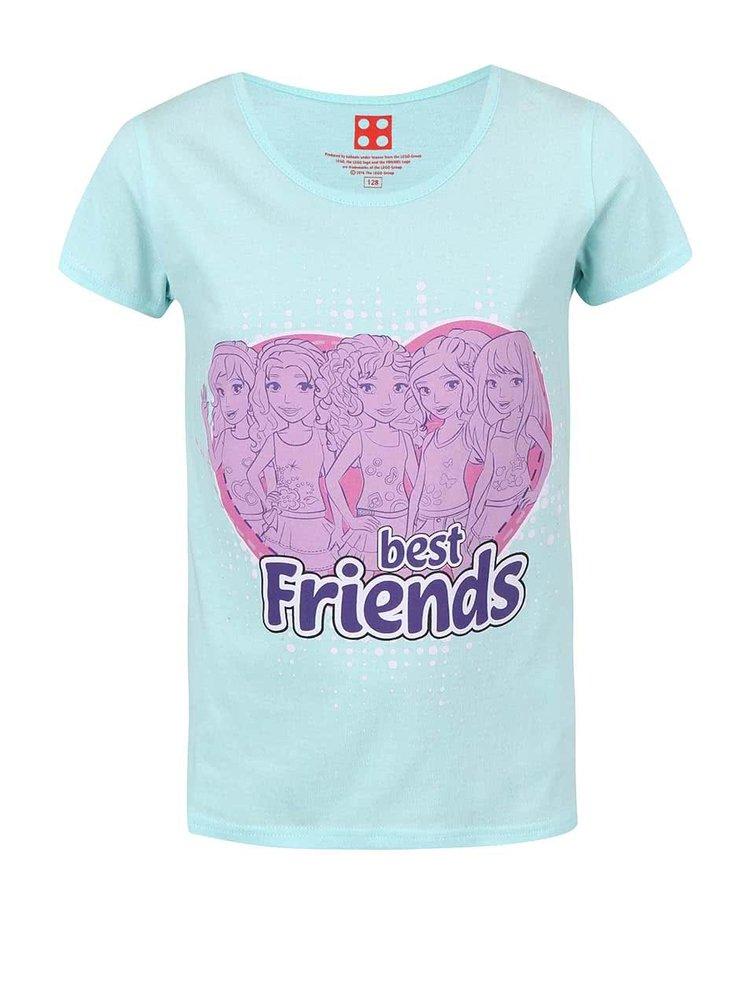 Mentolové dievčenské tričko s potlačou LEGO Wear Best Friends