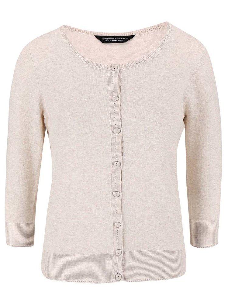 Béžový svetr na knoflíčky Dorothy Perkins