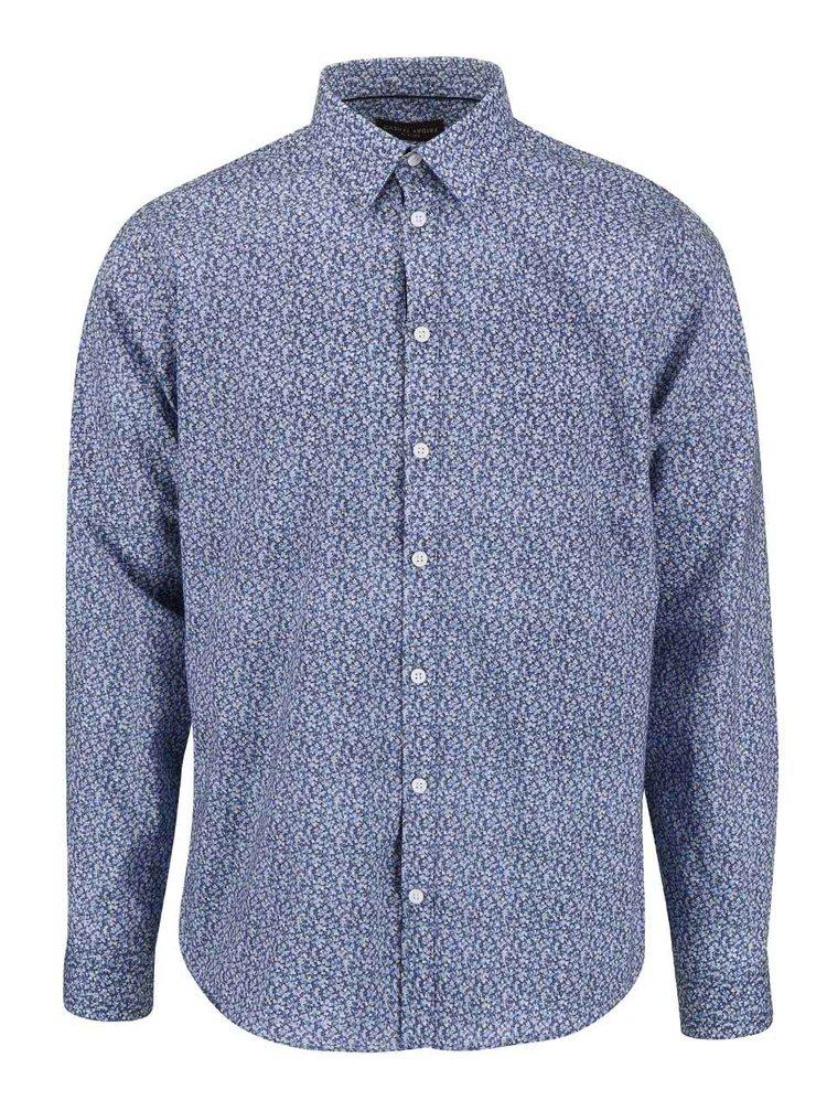 Modrá vzorovaná košeľa Casual Friday by Blend