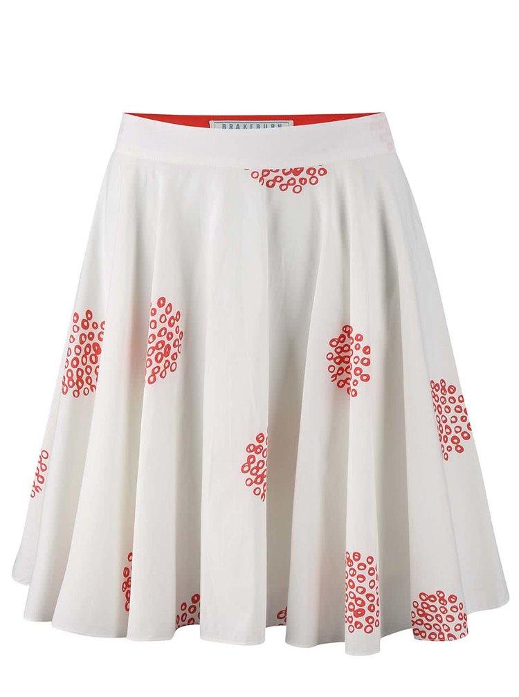 Bílá vzorovaná sukně Brakeburn Polka