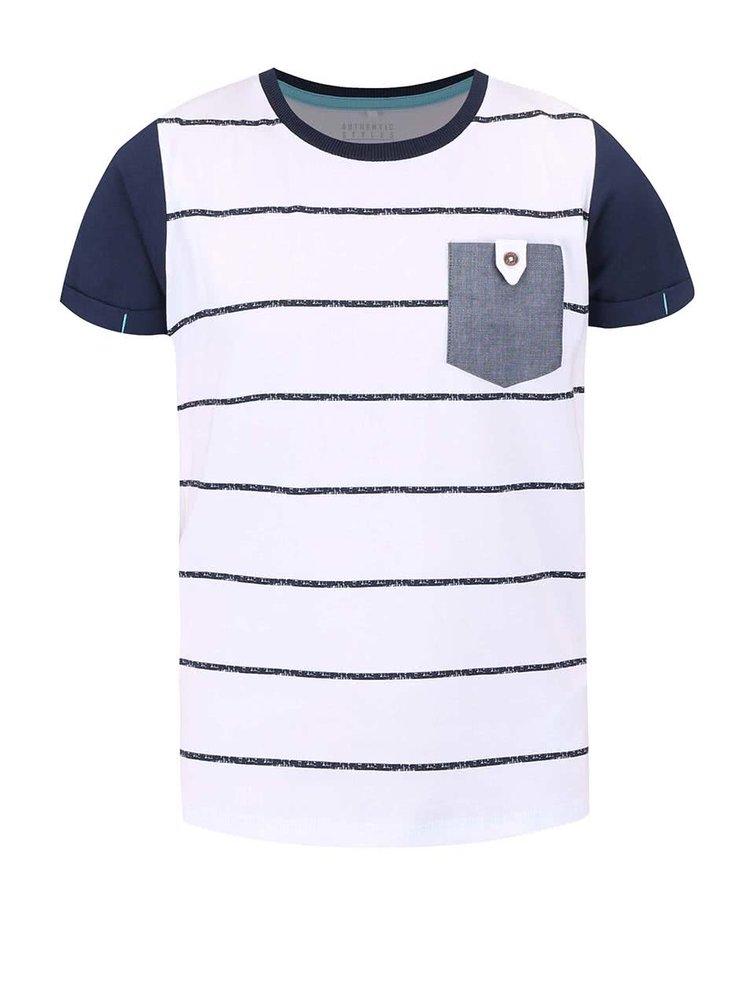 Biele chlapčenské pruhované tričko name it Gike