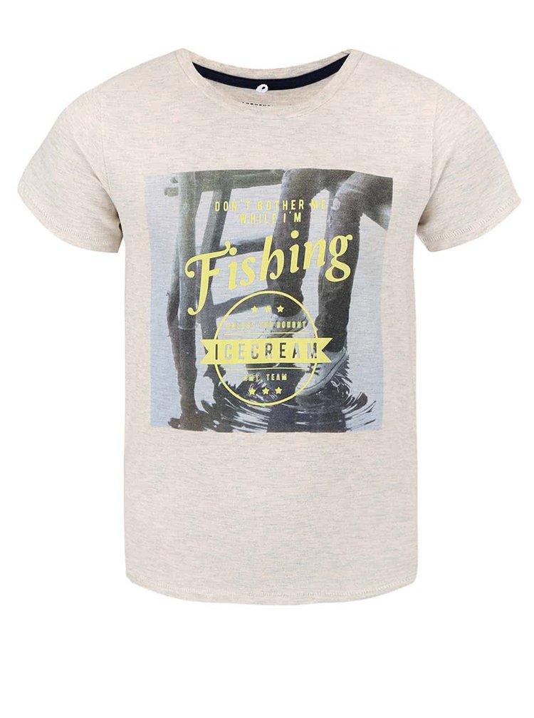 Krémové chlapčenské tričko s potlačou name it Gorten