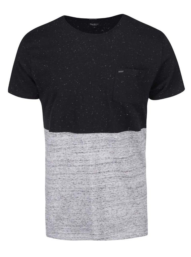 Tricou bărbătesc Pepe Jeans Portobello negru-gri