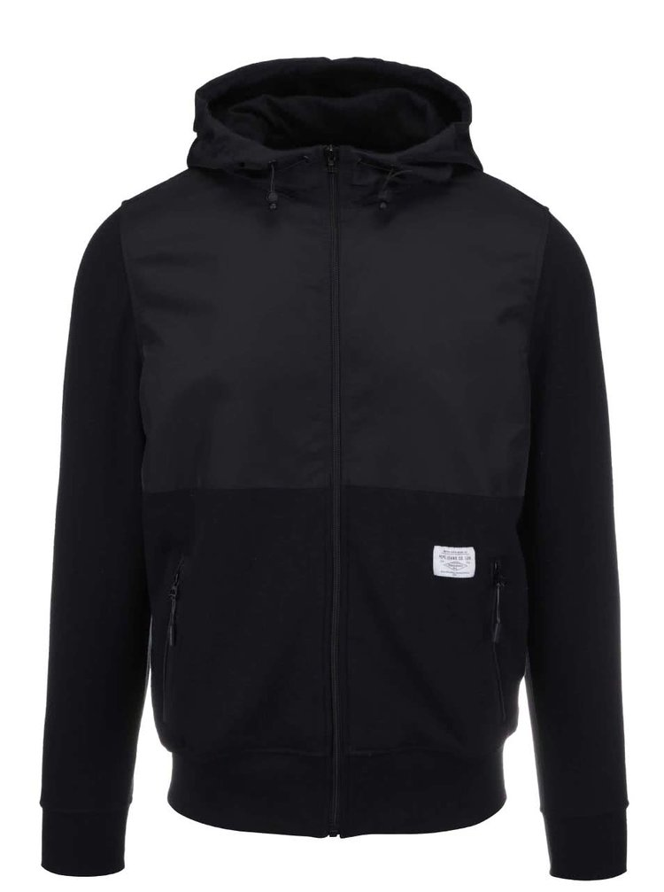 Čierna pánska bunda s kapucňou Pepe Jeans Casavettes