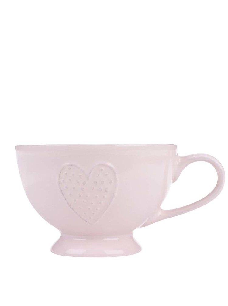 Ružový nízky hrnček so srdiečkom Dakls