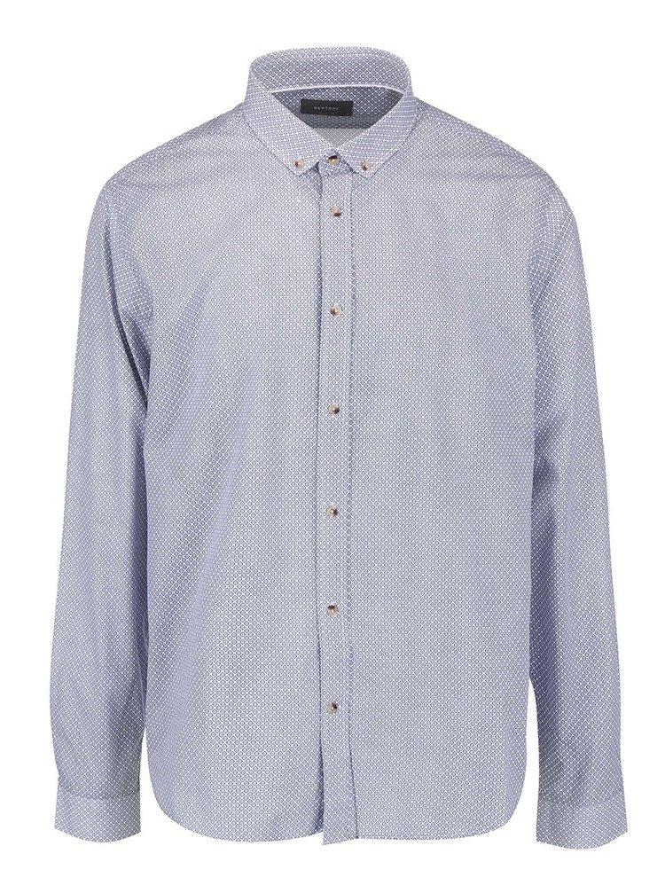 Svetlomodrá košeľa s drobným vzorom Bertoni Malte