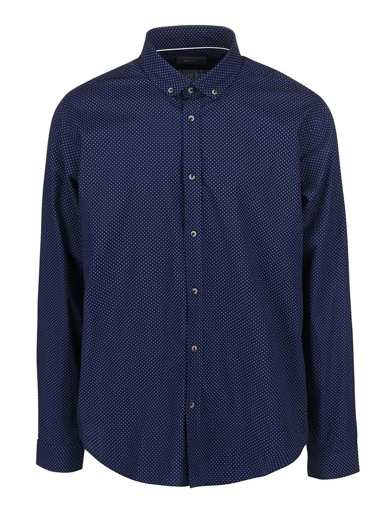 Tmavě modrá slim fit košile Bertoni Malte