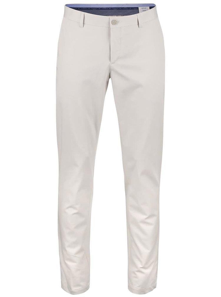 Krémové chinos kalhoty Bertoni Beck