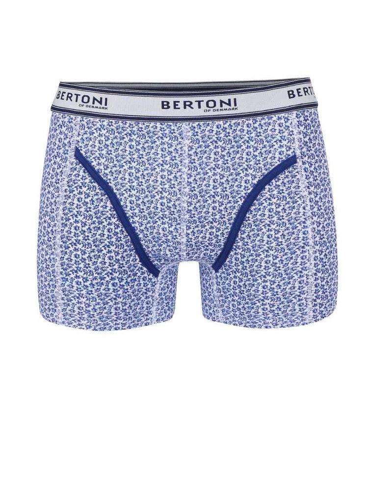 Boxeri Bertoni Vagn albaștri cu imprimeu