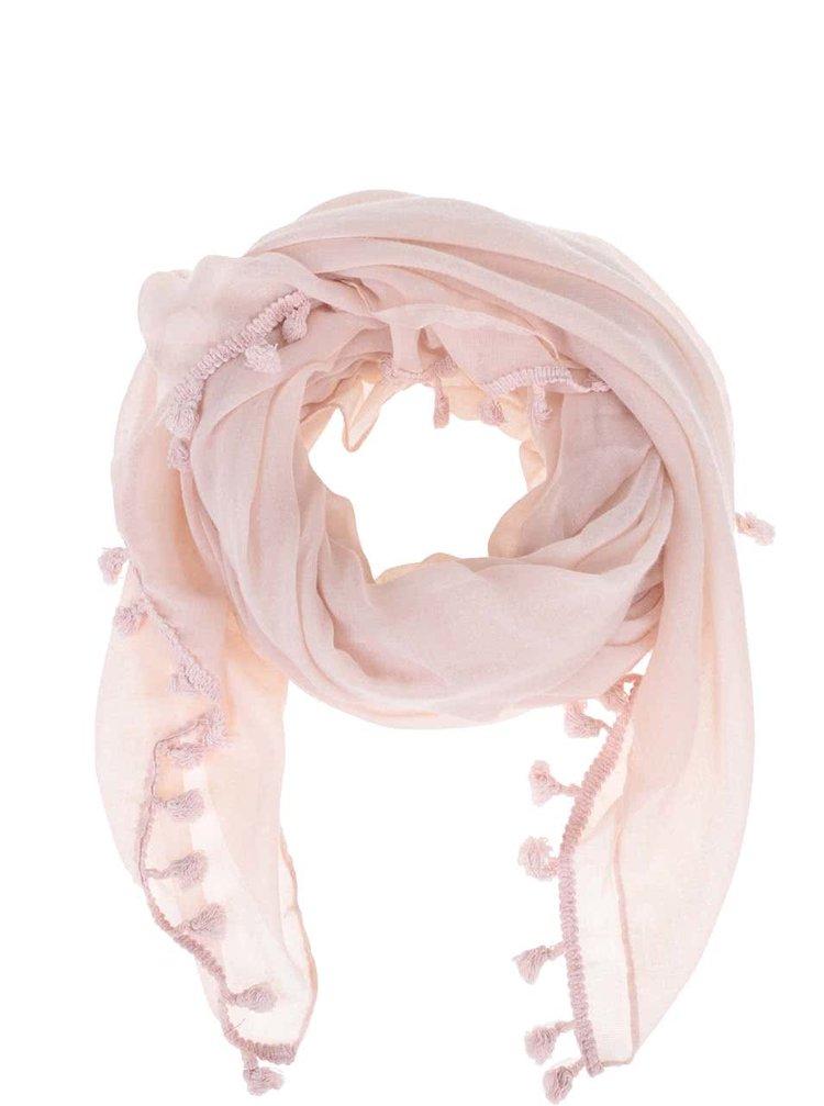 Světle růžový šátek Zabaione Zottel