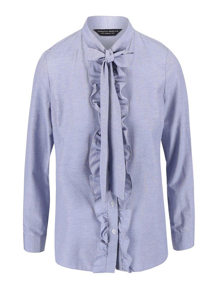Bluză Dorothy Perkins albastră, cu fundă