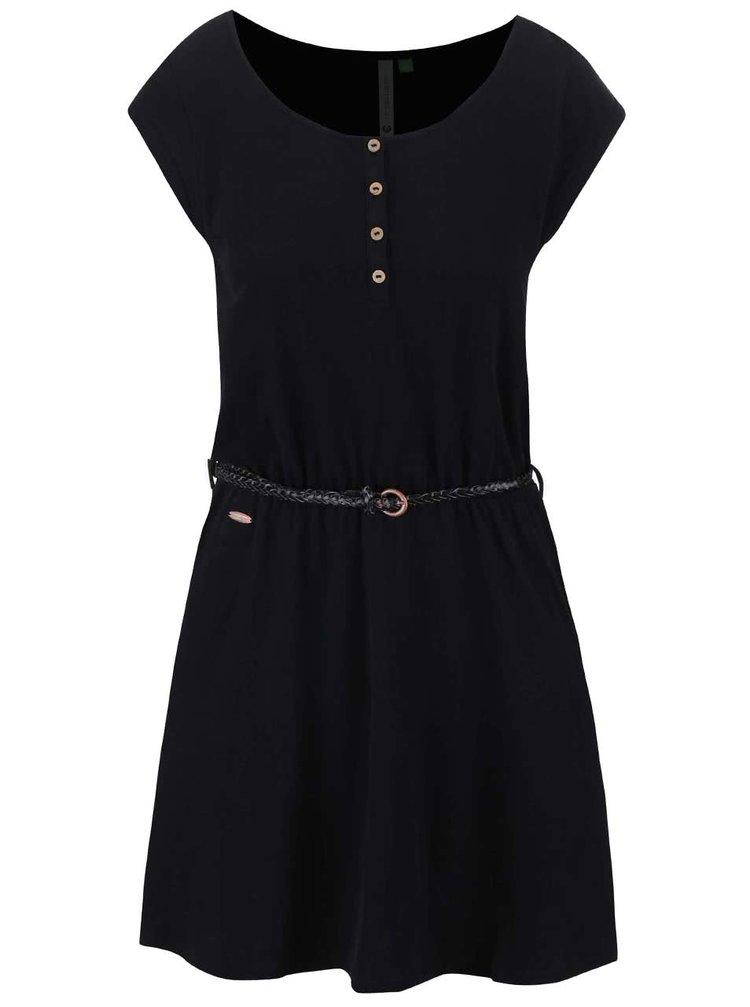 Čierne šaty Ragwear Zephie Organic