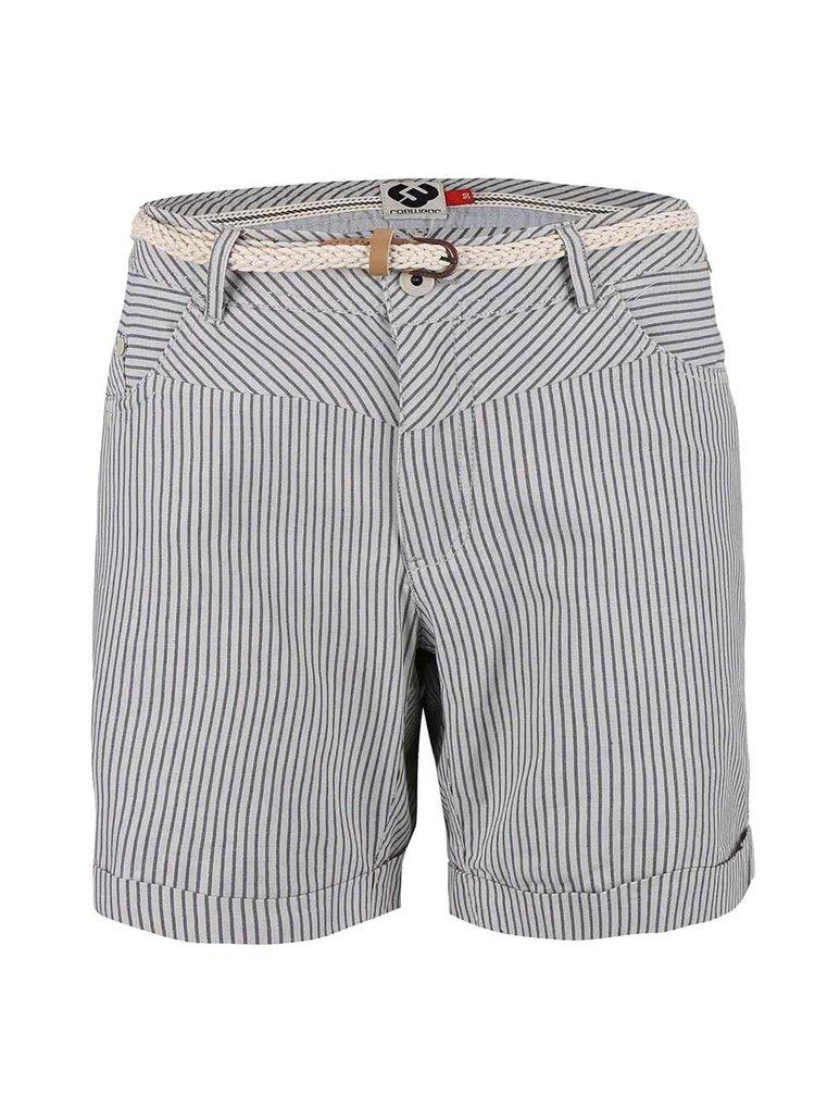 Pantaloni scurți în dungi Ragwear Sandra albi