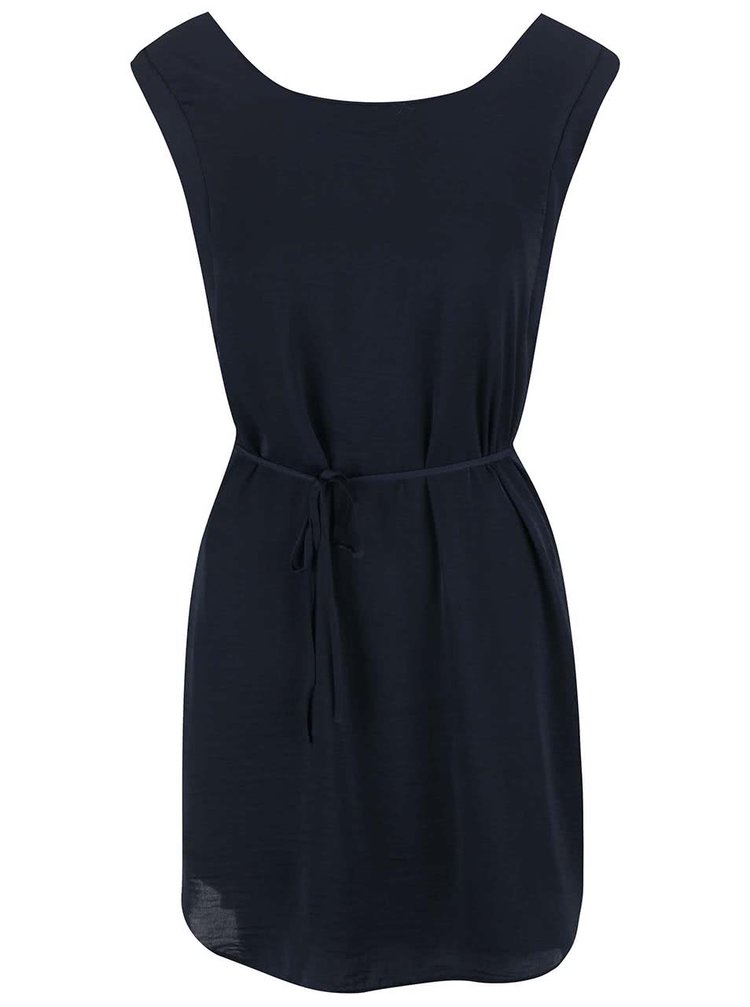 Tmavě modré šaty se zavazováním VILA Kulla
