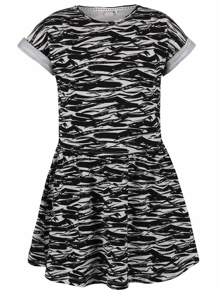 Černé holčičí vzorované šaty name it Gemia