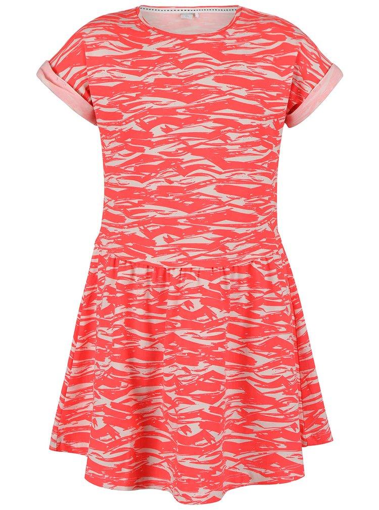 Koralové dievčenské vzorované šaty name it Gemia