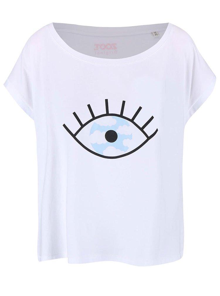 Bílé dámské volnější tričko ZOOT Originál Falošné Zrkadlo