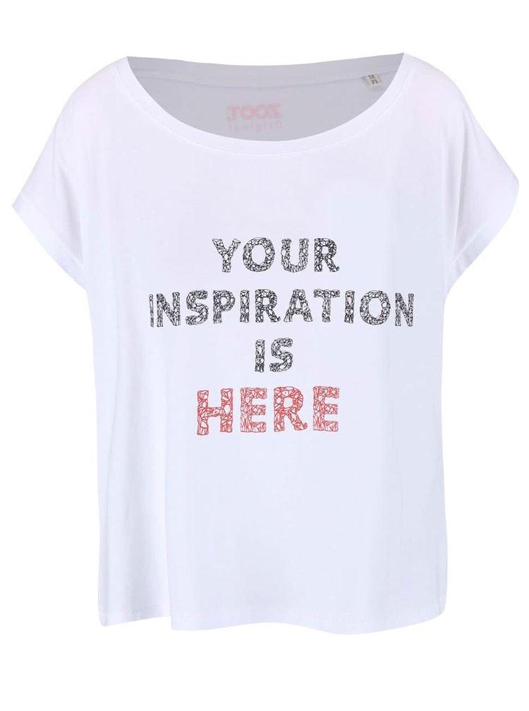 Bílé dámské volnější tričko ZOOT Originál Inspiration