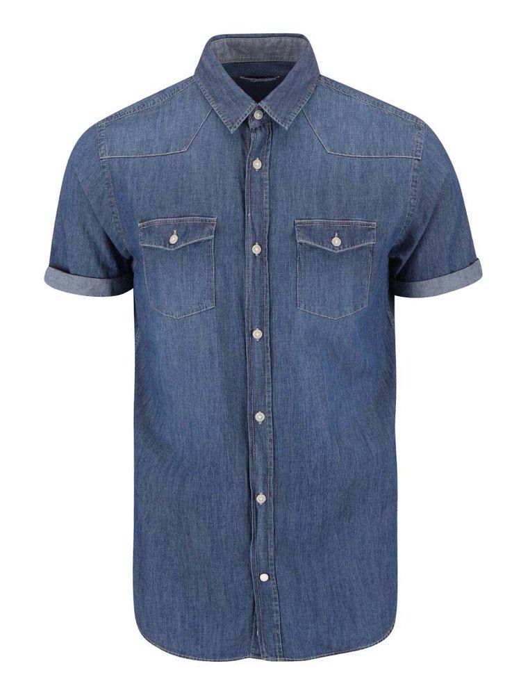 Tmavě modrá džínová košile Jack & Jones Retro
