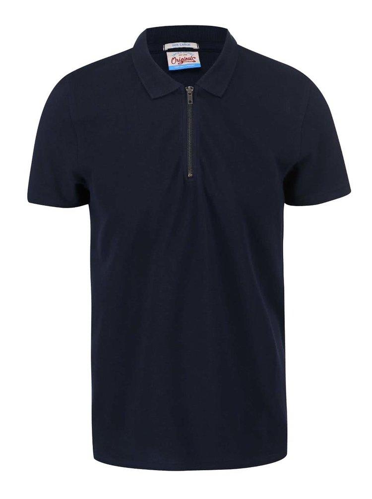 Tmavě modré polo triko Jack & Jones Zup