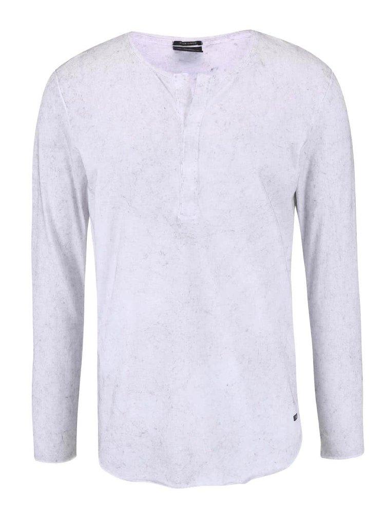 Biele voľnejšie tričko so spratým efektom Jack & Jones Jordaim