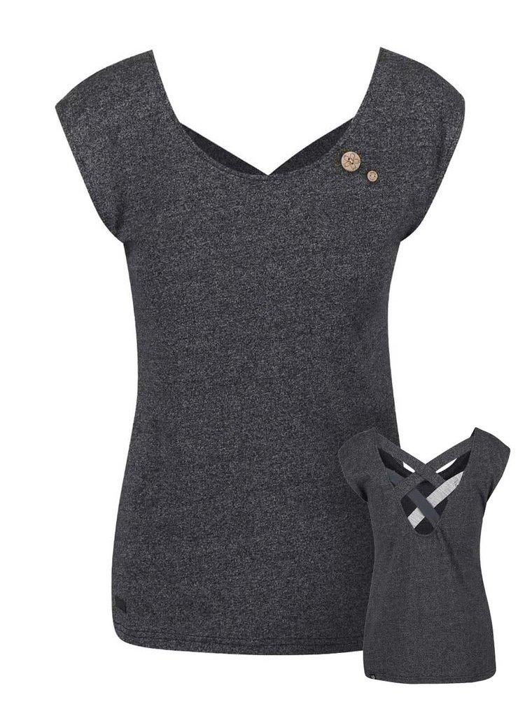 Černé dámské žíhané tričko Ragwear Sofia