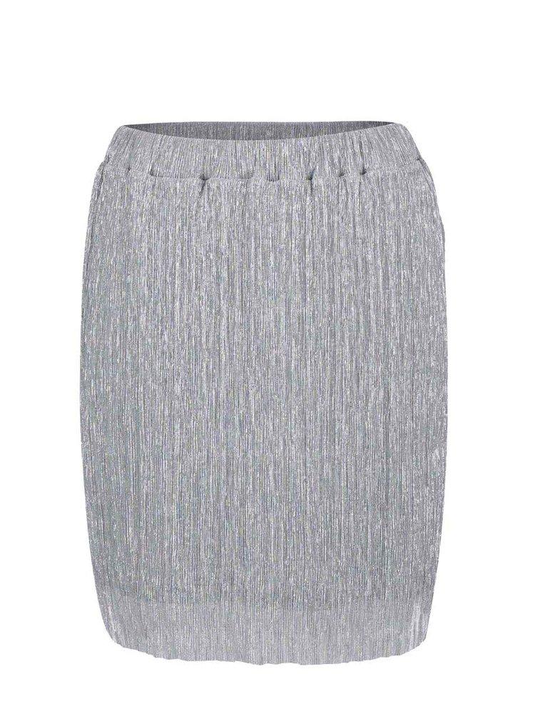 Plisovaná sukně ve stříbrné barvě Alchymi Spinel