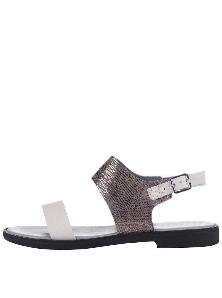 Bílo-stříbrné lesklé sandály Bullboxer