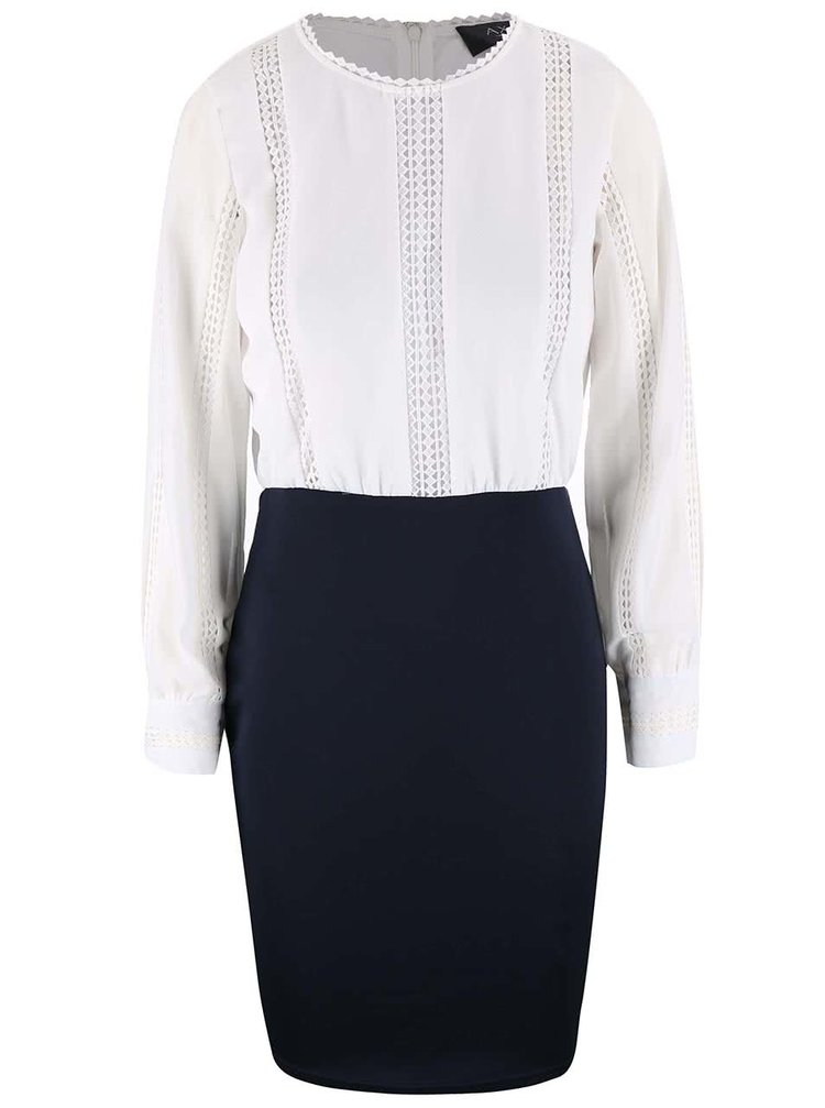 Bielo-modré šaty s pleteným topom AX Paris