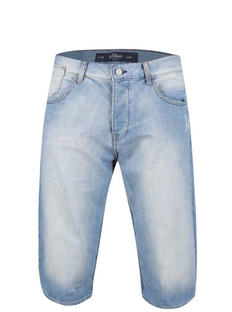 Modré pánské džínové kraťasy s.Oliver