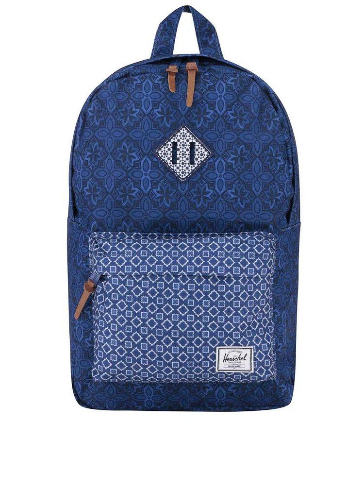 Modrý vzorovaný batoh Herschel Heritage Mid-Volume