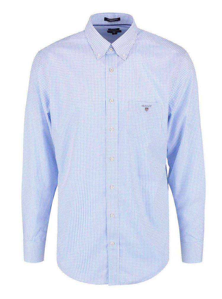 Modrá pánská kostkovaná regular fit košile GANT