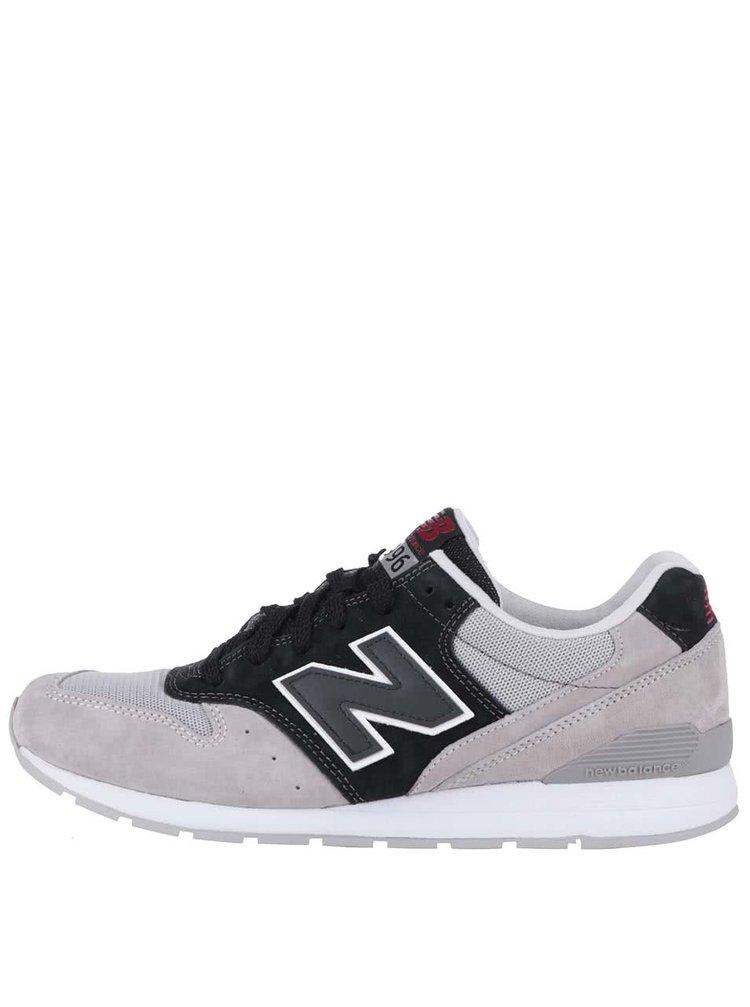 Černo-béžové pánské tenisky s šedými detaily New Balance